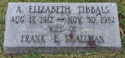 Addie Elizabeth <I>Tibbals</I> Smallman