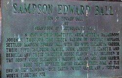 LT Sampson Edward Ball