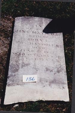 Jane Matilda <I>Reynolds</I> Fitzrandolph