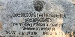 PVT Jackson Oliver Knight