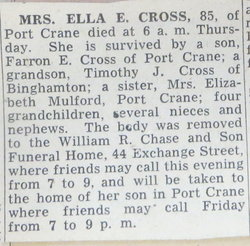 Ella A. <I>Randall</I> Cross