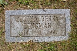 Bertha <I>Berry</I> Dingman