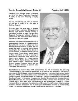Rev Robert J. Burgess