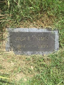 Alice <I>Wilkerson</I> Sims
