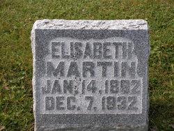 Elizabeth <I>Weber</I> Martin