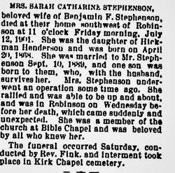 Sarah Catherine <I>Henderson</I> Stephenson