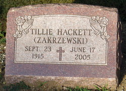 Tillie <I>Konkol</I> Hackett