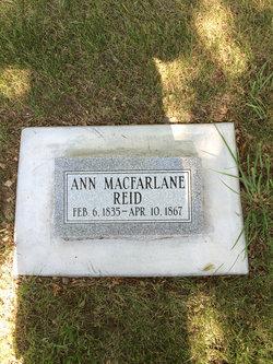 Ann <I>Macfarlane</I> Reid