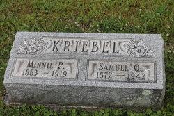 Minnie Priscilla <I>Barger</I> Kriebel