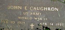 """John Ernest """"Ernie"""" Caughron"""