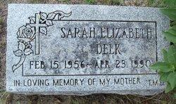 Sarah Elizabeth <I>Stamper</I> Delk