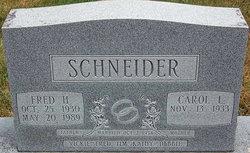 "Frederick Henry ""Fred"" Schneider, Sr"