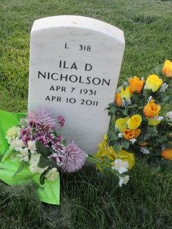 Ila Delores <I>Nicholson</I> Nicholson