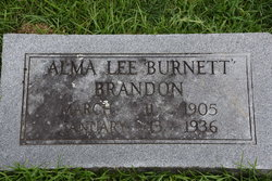 Alma Lee <I>Burnett</I> Brandon