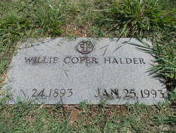 Willie Cofer Halder
