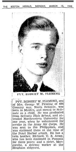 PFC Robert William Fleming