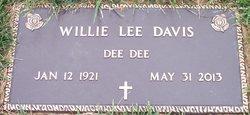 """Willie Lee """"DeeDee"""" Davis"""