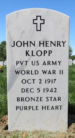 "PVT John Henry ""Buddy"" Klopp"