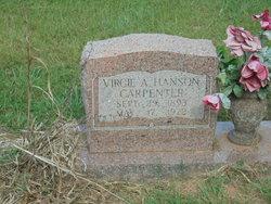 Virgie A <I>Hanson</I> Carpenter