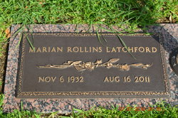 Marian Rollins <I>Thedford</I> Latchford