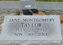 Jane Montgomery Taylor