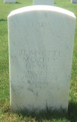 Jeanette <I>Mozley</I> Hamic