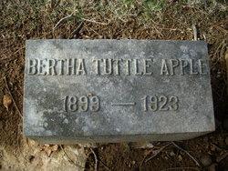 Bertha Dora <I>Tuttle</I> Apple