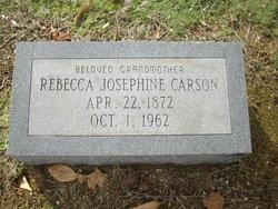 Rebecca Josephine <I>Bentley</I> Carson