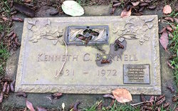 Kenneth c bonnell 1931 1972 find a grave memorial for Evergreen memorial gardens vancouver wa