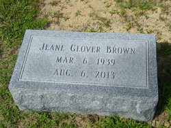 Jeane <I>Glover</I> Brown