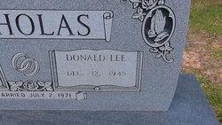 Donald Lee Nicholas