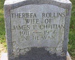 Theriffa <I>Rollins</I> Christian