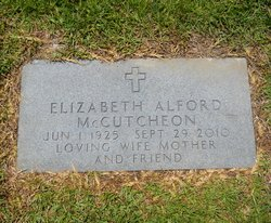 Elizabeth Patience <I>Alford</I> McCutcheon