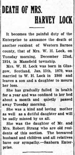 Mrs Harvey <I>Strang</I> Locke