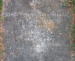 Mary Winifred <I>Williams</I> Gaines