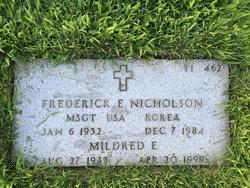 Sgt Fredrick Eugene Nicholson, Sr