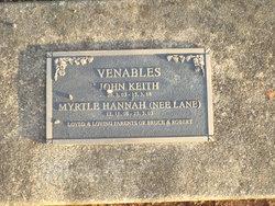 Myrtle Hannah <I>Lane</I> Venables