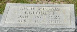 Annie L <I>Wisham</I> Colquitt
