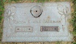 Rhoda Dent <I>Kimble</I> Barkman