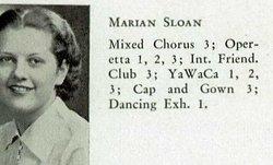 Marian J <I>Sloan</I> Gloeckner
