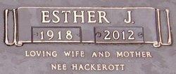 Esther Josephine <I>Hackerott</I> Schultz