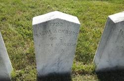 Pvt Robert L. Blackburn