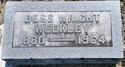 Bess <I>Wright</I> Weekley