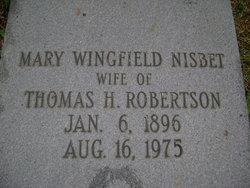Mary Wingfield <I>Nisbet</I> Robertson