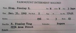 Stanley T King