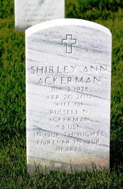 Shirley Ann <I>Gieselman</I> Ackerman