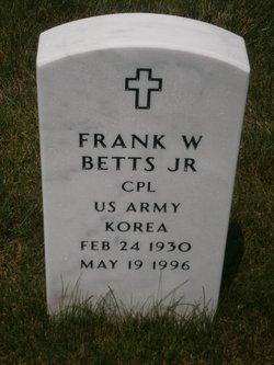 Frank W Betts, Jr