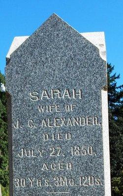 """Sarah """"Sally"""" Alexander"""