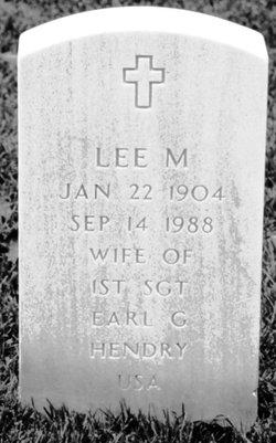 Lee M Hendry