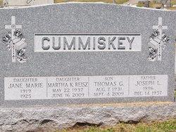 Martha K <I>Cummiskey</I> Reisz